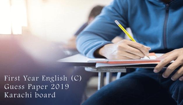1st year english guess paper 2019 karachi board (Compulsory)