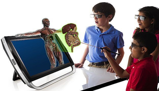 Using Virtual Reality in classrooms - Augmented Reality(AR 4D)