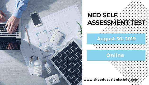 NED Free Online Self Assessment Test Application Form 2019-2020