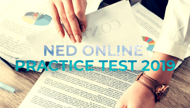NED University Online Entrance Practice Test 2019