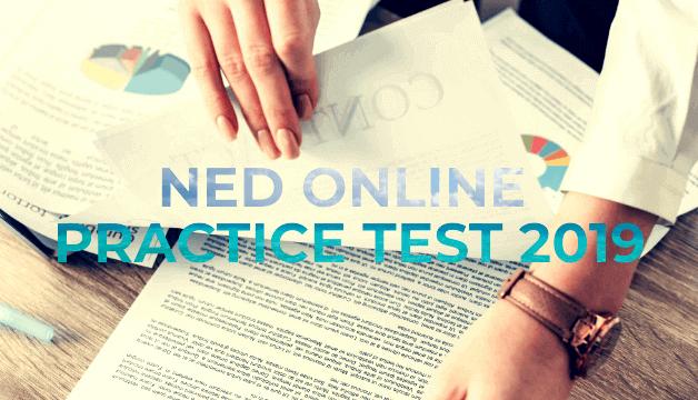 NED University Online Entrance Practice Test 2019