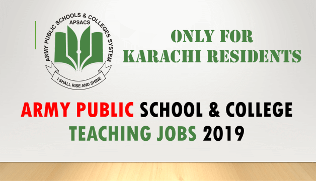 ARMY PUBLIC SCHOOL COLLEGE TEACHING JOBS