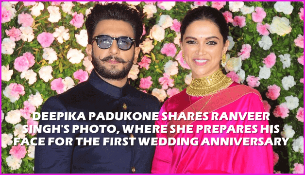 Deepika Padukone Shares Ranveer Singh's Photo, Where She Prepares His Face For The First Wedding Anniversary