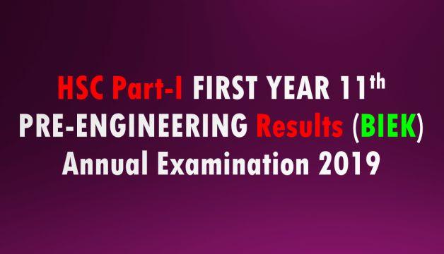 First Year Pre-Engineering Result 2019 Karachi Board
