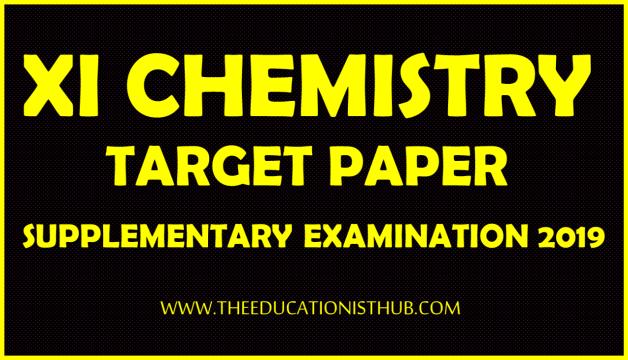 1st Year Chemistry Supply Guess Paper 2019 Karachi Board (BIEK)