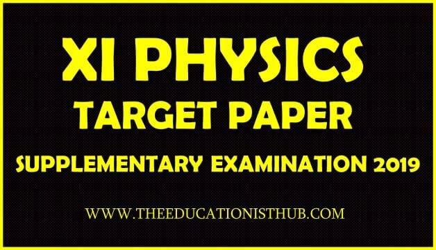 1st Year Physics Supply Guess Paper 2019 Karachi Board (BIEK)