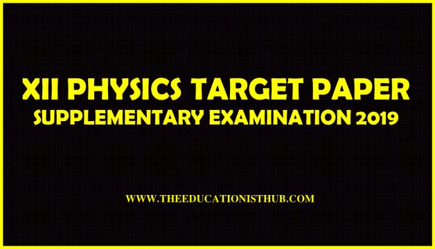 XII Physics Guess Paper 2019 Karachi Board - BIEK (Supplementary)