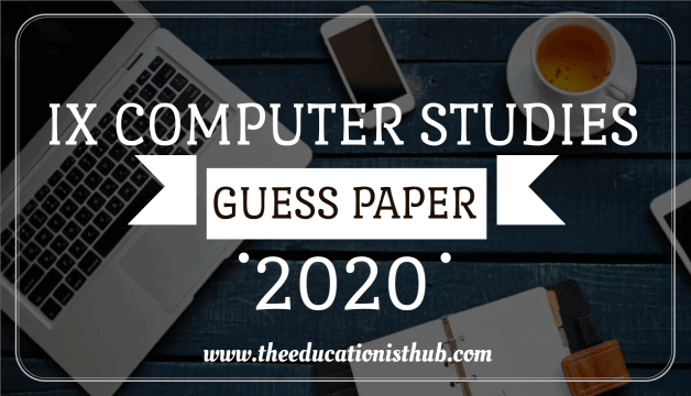 9th Class Computer Guess Paper 2020 Karachi Board (BSEK)