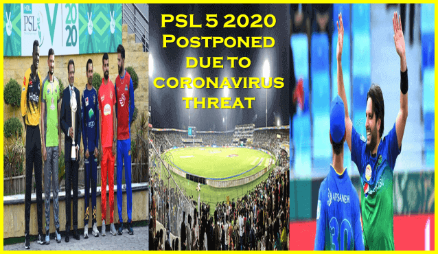 PSL 5 2020 Semifinals and Final Postponed on Account of Coronavirus Threat