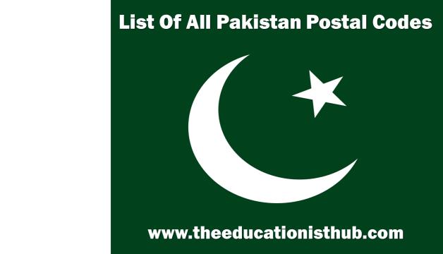 list of pakistan postal codes