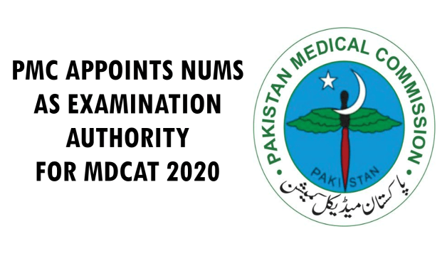 PMC Latest news mdcat 2020 date