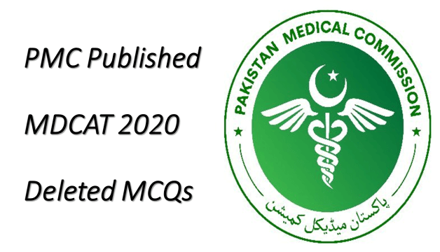 PMC MDCAT 2020 Deleted MCQs
