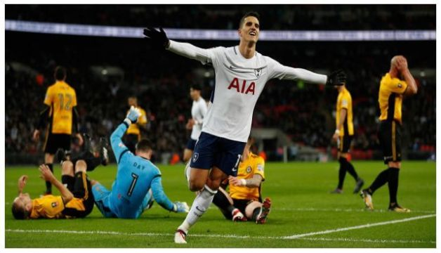 Tottenham's Erik Lamela Scores Goal Of The Year With Rabona (Arsenal vs Tottenham) #ARSTOT