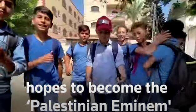 11 year old Palestinian boy GOES VIRAL through rap and uses music to share life in Gaza