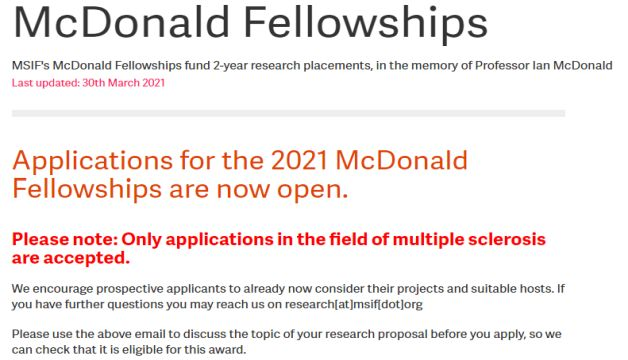 McDonald Fellowships 2021 For Young Researchers Up to £30,000 From Developing Countries Fully Funded