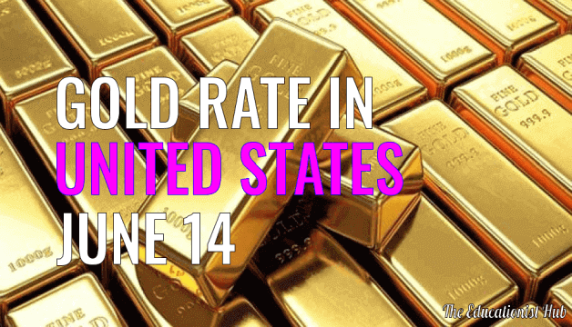 Gold Price Today in United States (USA), 14th June 2021