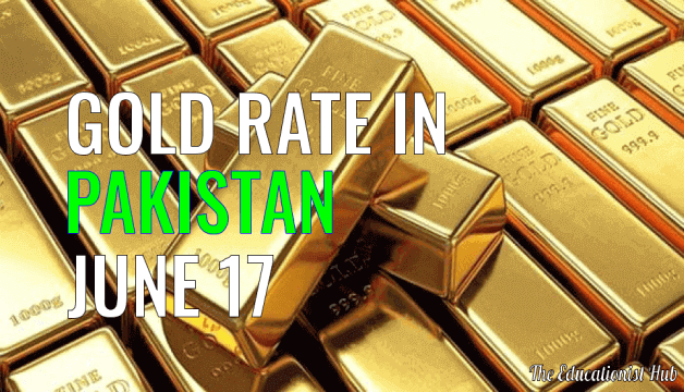 Gold Rate in Pakistan Today 17th June 2021