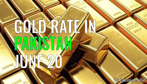 Gold Rate in Pakistan Today 20th June 2021