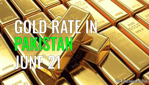 Gold Rate in Pakistan Today 21st June 2021