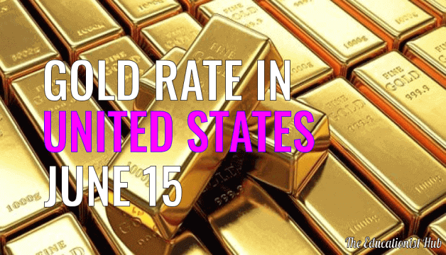 Latest Gold Price Today in United States (USA), 15th June 2021