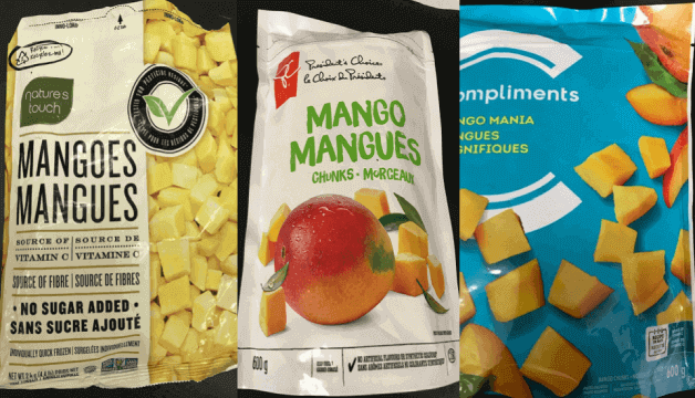 CFIA issued a recall for various brands of frozen mangoes due to Hepatitis A contamination