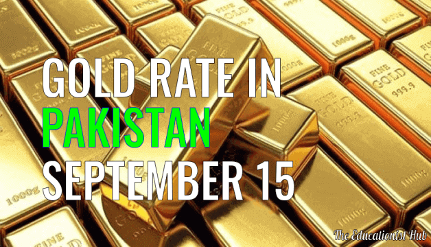 Gold Rate in Pakistan Today 15th September 2021
