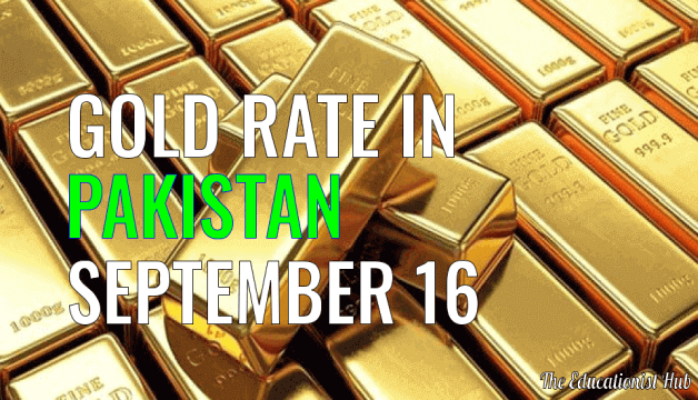 Latest Gold Rate in Pakistan Today 16th September 2021