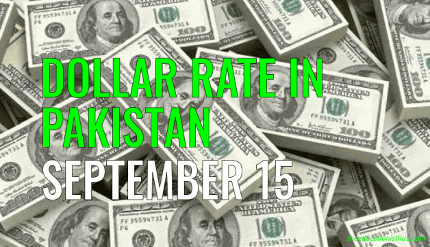 US Dollar Rate in Pakistan Today 15th September 2021
